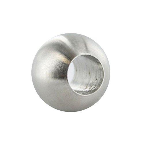 Edelstahl Kugel V2A Ø 20-40mm Durchgangsbohrung Edelstahlkugel Vollkugel