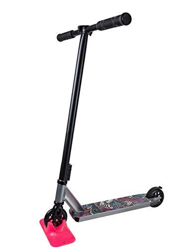 Outdoor Extreme Sport Push Stunt Roller Kompletter Leichter Push Scooter T Lenker 360 Grad drehbar, für Erwachsene Teen Urban Scooter Schwarz