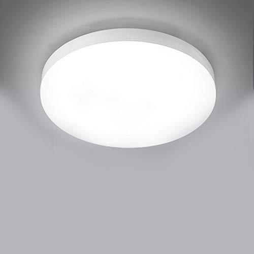 LED Deckenleuchte, 30W LED Deckenlampe IP54 Wasserfest Badlampe, Kaltweiß, 3000LM Lampen ideal für Badezimmer Schlafzimmer Balkon Küche und Wohnzimmer, Ø25cm