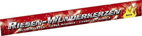 80 XXL Riesen Wunderkerzen Nico Feuerwerk a 45cm ca. je 90 Sekunden Brenndauer (4 - Pack, A)