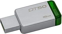 Kingston DataTraveler 16GB USB 3.0 Flash Drive (Silver and Green)