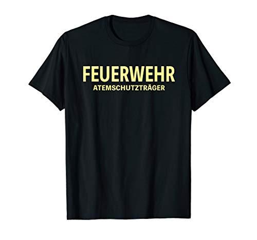 Feuerwehr Shirt Feuerwehrmann Atemschutz FFW Tshirt T-Shirt
