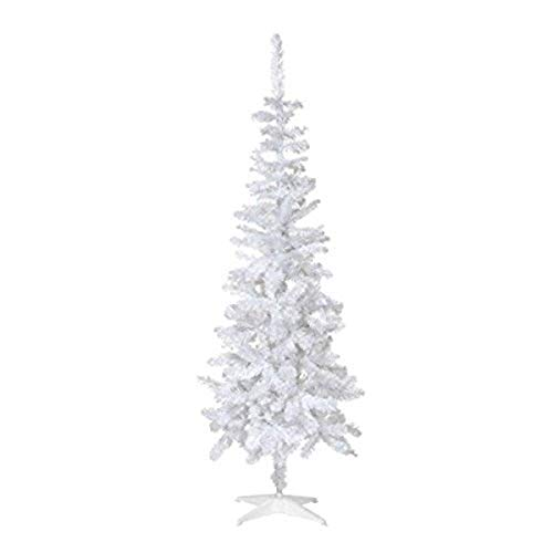 Perfect Holiday White Crystal 4 ft PVC Christmas Tree, 4'