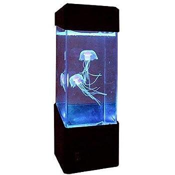 卓上 アクアリウム LED クラゲ イルミネーション搭載 クラゲ2匹内蔵 シリコン スタンドタイプのコンパクト アクアリウム 水族館