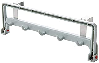 STORE-HOMER - Folding Sundries Organizer Plastic Rack Shelf with Hook Cupboard Towel Storage Rack Cabinet Door Hanger for Kitchen
