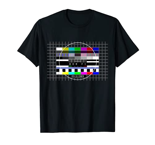 Testbild zum Mauerfall mit Datum 09.11.1989 Berliner Mauer T-Shirt