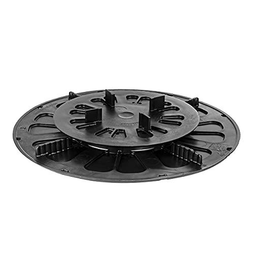 Base réglable de haute qualité pour carreaux de terrasse Piédestal pour carreaux de terrasse Pieds de support 52 pièces (1 boîte) Réglage de la hauteur de 19 à 27 mm