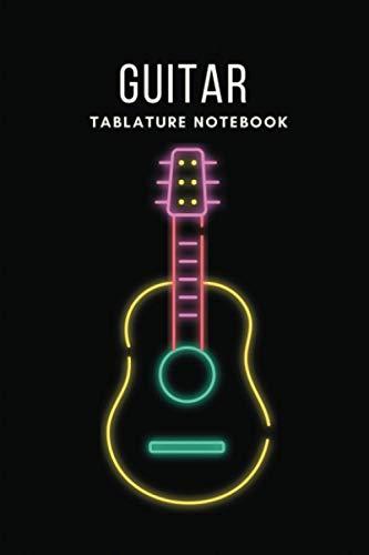 Guitar Tablature Notebook: Blank Guitar Tab Notebook Journal | Standard Manuscript Paper For Guitarist And Musicians (Black Cover)