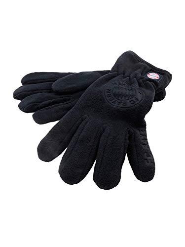 FC Bayern München Fleece-Handschuhe Logo/warme Fingerhandschuhe schwarz/XXL