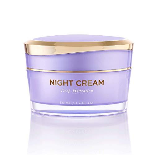 Mia del Mar Overnight Miracle Glow Night Cream - Anti-Aging Retinol, Moisturizing Hyaluronic Acid, Jojoba Oil & Squalane Help Hyperpigmentation, Oil and Acne-Prone Skin. Vegan And Clean Skin Care.