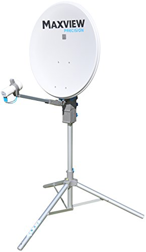 Maxview MXL01265TWIN Precision Kit satélite con Doble Cabezal LNB, 65 cm