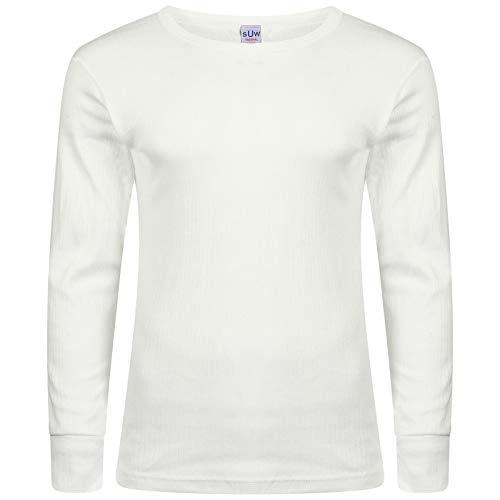 Boston Clothing sous-vêtement Thermique pour T-Shirt à Manches Longues pour Femme - Blanc - X-Large