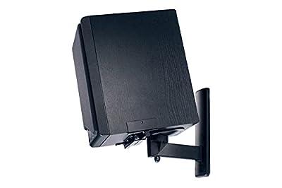 B-Tech BT77 Ultragrip Pro Speaker Mount, Set of 2, Side Clamp with Tilt and Swivel, Black from B-Tech