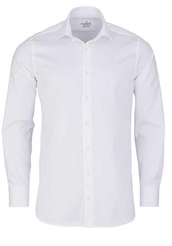 van Laack Herren RIVARA-SFN Freizeithemd, Weiß (Weiß 000), 40