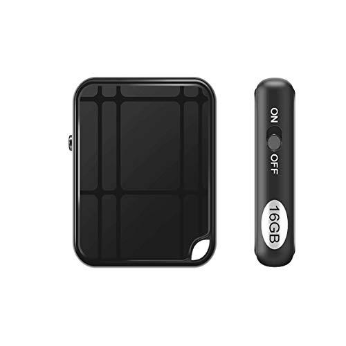 Grabadora de voz espía mini portátil con 16G. Micrófono espía portátil recargable por puerto USB y activación por voz.