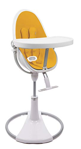 BLOOM Fresco Chaise Haute Loft Chrome avec kit de démarrage (assisté) Marigold Yellow