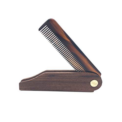 Healifty en bois de noyer Peigne Poignée Cheveux Peigne de massage Peigne Peigne à barbe pour homme ou femme (Marron)