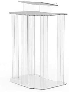 FixtureDisplays Plexiglass Acrylic Podium Pulpit Lectern Clear Transparent Lucite Ship Unassembled 1803-4!