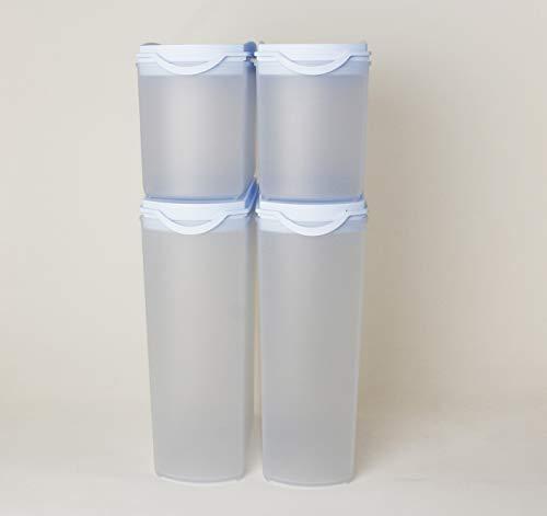 TW Tupperware Eidgenosse Plus - Fiambrera (2 x 2,2 L, 2 x 1 L, 10 L), color azul claro