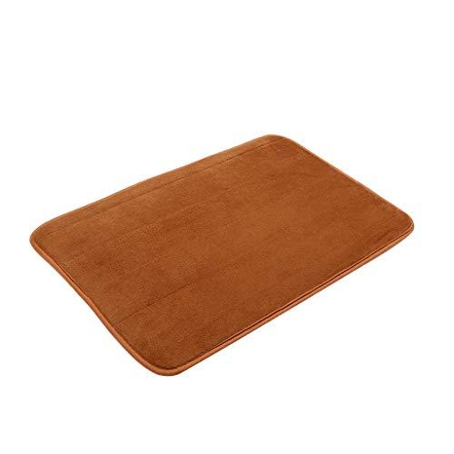 Scrolor Teppichboden Teppiche Area Rugs Memory Foam Carpet Bad Schlafzimmer Boden rutschfeste Dusche Teppiche Fußmatte(Braun,40x60cm)