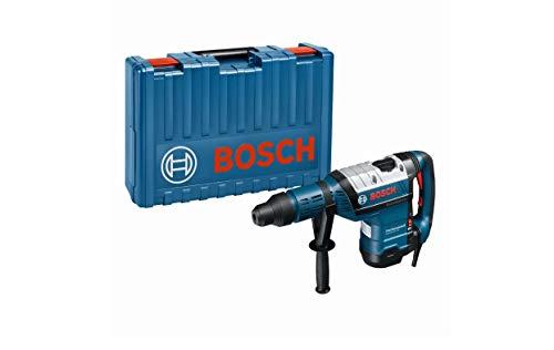 Bosch Professional 0611265000 Martello Perforatore GBH 8-45 DV, SDS, Impugnatura Supplementare, Ø Foratura: 12-45 mm, Potenza del Colpo Max.: 12.5 J, 1500 W, 240 V, Blu, Classe di peso 8 kg
