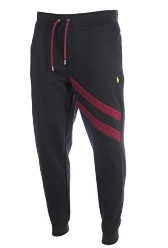 Ralph Lauren Herren Double Knit Jogginghose/Freiheithose - Schwarz/Navy (Schwarz, XL)
