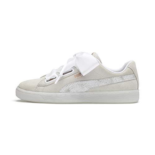 PUMA Suede Heart Artica Wn's, Zapatillas para Mujer, Blanco White White 01, 38 EU