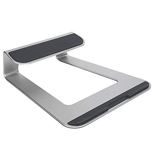 Soporte para computadora portátil, Mesa de Escritorio de aleación de Aluminio Ajustable, Soporte de enfriamiento para computadora portátil con diseño en Forma de cuña Abierta