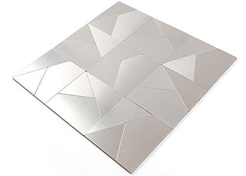 Piastrella di metallo  per BAGNO A PARETE WC DOCCIA CUCINA PIASTRELLE COPERTURA SPECCHIO COPERTURA PANNELLI BAGNO Tappeto mosaico Piatto mosaico Piastrelle mosaico autoadesive in metallo30*30cm 5pcs