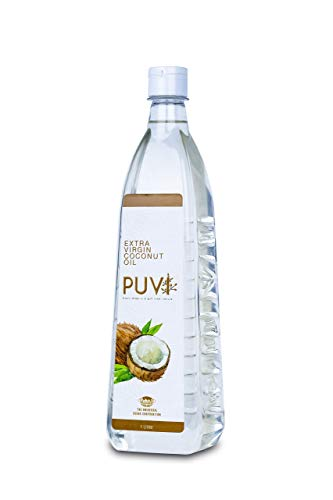 Puvi 1L Cold Pressed Extra Virgin Coconut Oil (Centrifuge wet process) 1000 ML