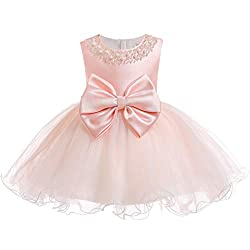Pink01 Tulle Tutu Baby Dress With Sequins And Beads