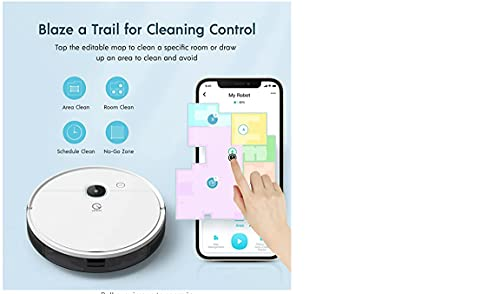 Yeedi K700 Robot Vacuum and Mop Cleaner with Smart Navigation, Turbo Mode Suction Up to 2000Pa, Water Tank, Self-Charging, Quiet Cleaning, Ideal for Pet Hair, Carpets, Hard Floors