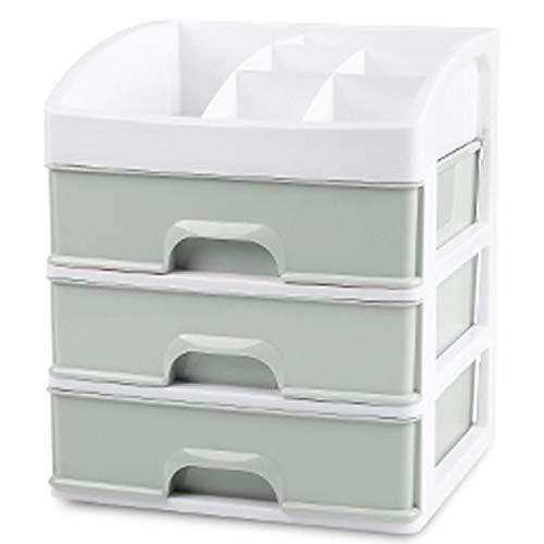 Xiaoxiao Boîte de rangement cosmétique - Matériau en PP, épais et durable, en matériau léger, imperméable et respirante, tiroir à 3 couches, balcon séjour chambre salle de bain cuisine table en plasti