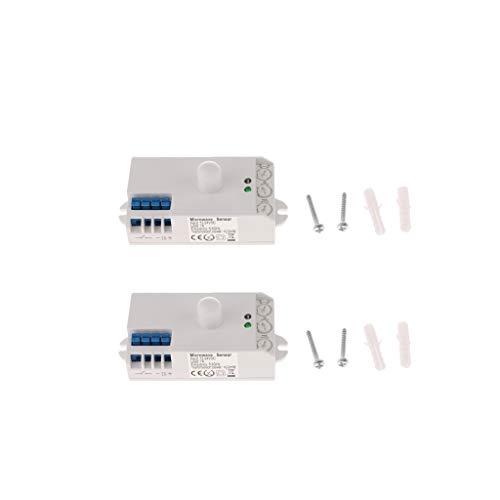MagiDeal 2XMicrowave Sensor Body Detector de Movimiento Interruptor de Control de Luz SK-807K