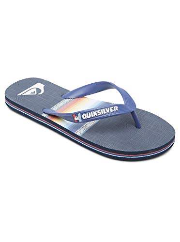 Quiksilver Molokai Art Youth Flip-Flop, Blue/Blue/Black, 35 EU