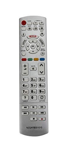 Vinabty N2QAYB001010 Fernbedienung für Panasonic TX-40CST636 TX-40CSW524 TX-40CS TX-55CX680B TX-65CX680 TX-50CX680B TX-50CX700 TX-55CS620 TX-55CXW704 Sub N2QAYB000928