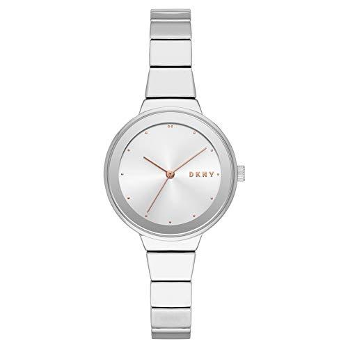 DKNY Damen Analog Quarz Uhr mit Edelstahl Armband NY2694