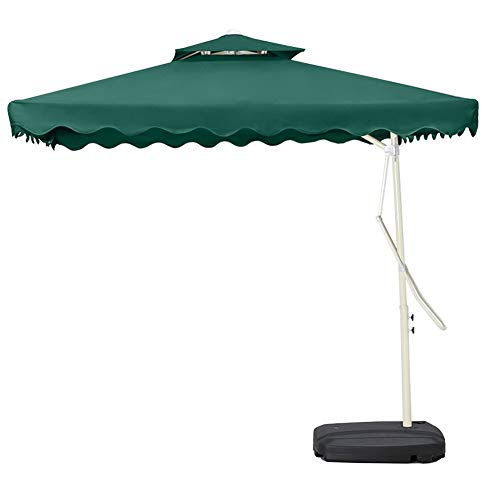 Parasols Außensonnenschirme, große Sonnenschirme, Sonnenschirme, Terrasse Schlüssel Regenschirme (Color : Green)