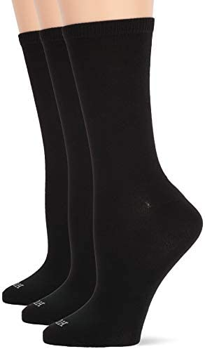 HUE Women s Super Soft Crew Sock 3 Pair Pack Black One Size product image