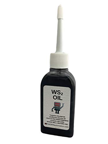 WS2 Oil Tungsten Disulphide ultra grade lubricant in Silicone oil 50ml for 3D printers and desktop robot arms - NEW bottle size