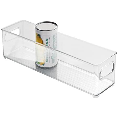 InterDesign Fridge/Freeze Binz boite rangement frigo, box de rangement empilable en plastique, transparent