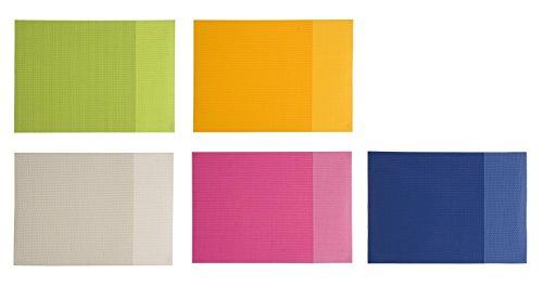 Couleurs assorties en PVC souple en maille Sets de table américain