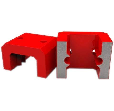 Hufeisen-Magnet AlNiCo Brückenmagnet rote Lackierung bis 450 °C L57xB44.5xH35 mm Haftkraft 15 kg