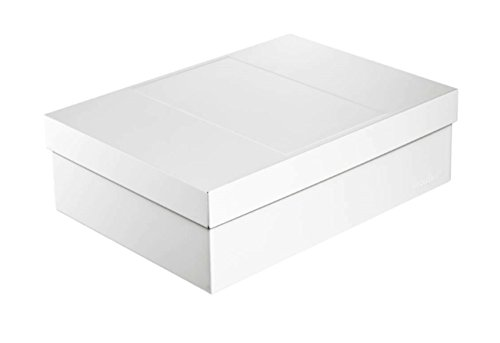 Infinity Boxes Metallbox + Deckel, Aufbewahrungsbox, groß, Creme-weiß, lebensmittelecht, stapelbar, rechteckig, L25xB18xH8 cm