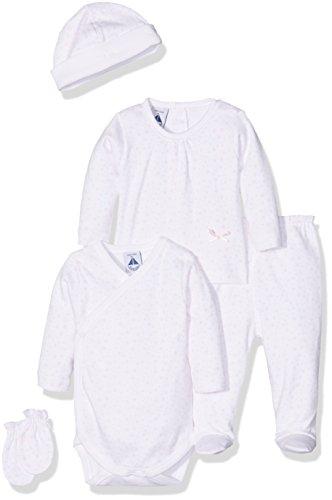 BABIDU Pack Nacimiento Conjunto de Ropa Interior, BCO/RSA, 1 Mes Bebe-Unisex