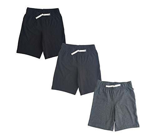 Jumping Beans Boys 3 Pack Shorts: Black, Navy, Grey 7