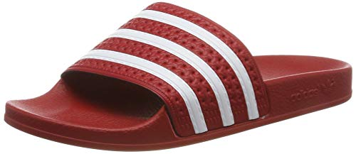 Adidas Adilette, Unisex-Erwachsene Badeschuhe, Rot (Light Scarlet/White/Light Scarlet), 43 EU 9 UK