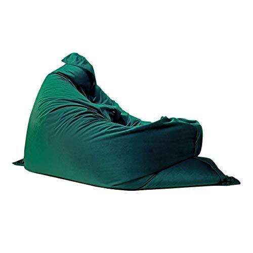 Bean Bag NLIAN- Indoor Outdoor Beanbag, 130x160cm Giant Seat Cushion Chair Double Zipped Extra Strong Seams Gamer Garden Chair Blue Green (Color : Green)
