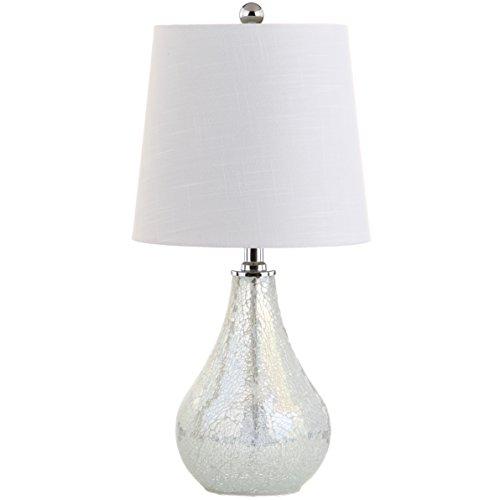 Mona 20,5 pulgadas Mini LED lámpara de mesa, mosaico blanco, costero, bohemio, bombilla incluida