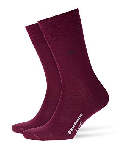 Burlington Herren Leeds M SO Socken, Blickdicht, Rot (Merlot 8005), 40-46 (UK 6.5-11 Ι US 7.5-12)